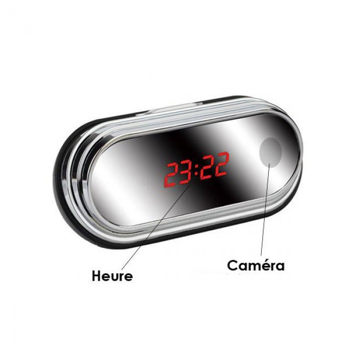 Đồng hồ để bàn camera HD Q1 với camera ghi hình siêu nét.
