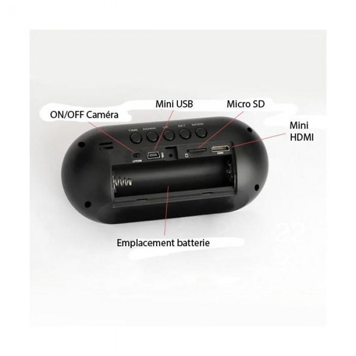 Đồng hồ để bàn camera HD Q1 hỗ trợ kết nối dễ dàng với các thiết bị khác