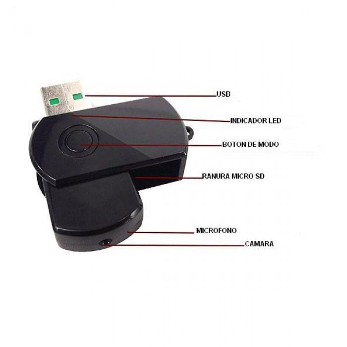 USB camera siêu nhỏ Q2 với khả năng ghi hình siêu nét. Giúp người sử dụng dễ dàng ghi hình - thu âm lén một cách chất lượng.