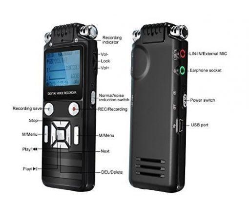 Máy ghi âm siêu lọc âm 8GB chất lượng cao nhờ công nghệ lọc âm trong quá trình ghi âm